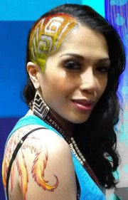 chelo_colored tribal hair